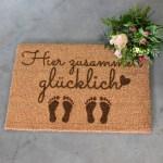 Fußmatte - Hier zusammen glücklich - 1