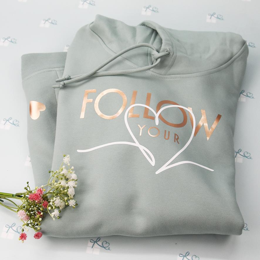 Hoodie - Follow your heart - grün - 1