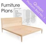 Diy Woodworking Plans Platform Bed No 1 Queen Size Wilbur Davis Studios