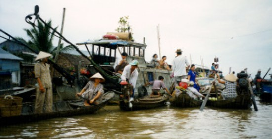Floating Markets, Mekong Delta, Vietnam