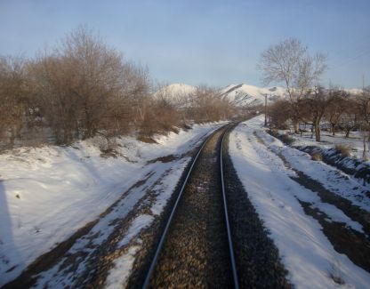 Train tracks in Eastern Turkey en route to Syria
