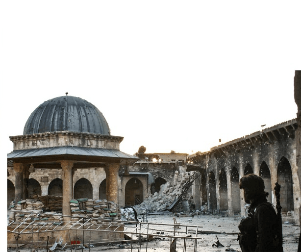 Damaged Great Mosque, Aleppo, Syria