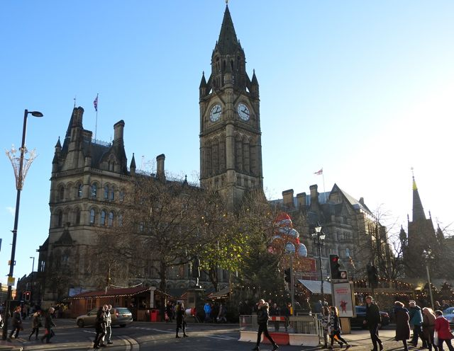Market by Manchester Town Hall​
