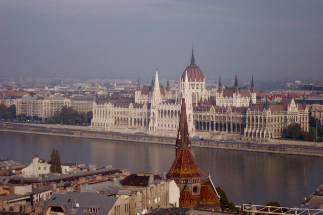 Budapest Parliament Building across the Danube