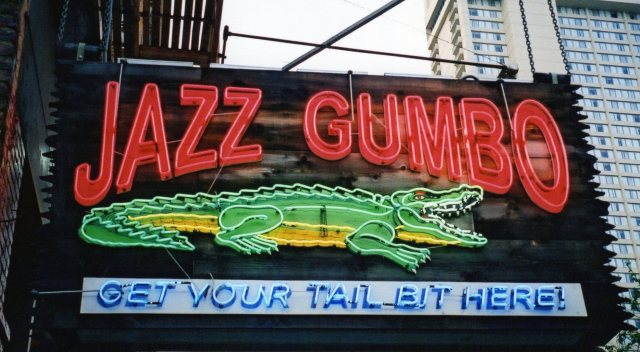 Jazz Gumbo Sign New Orleans