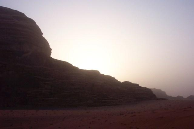 Sun Rising Wadi Rum, Jordan