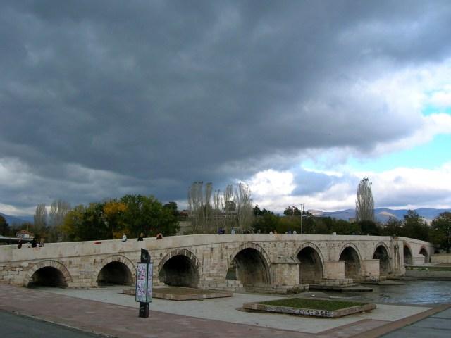 Ancient Stone Bridge, Skopje in 2006
