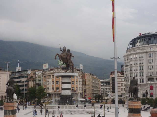 Alexander The Great Fountain, Skopje