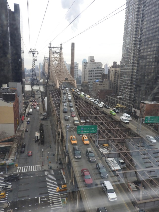 Roosevelt Island Tramway, New York, USA. January 2018.