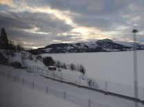 Scene on the bus journey from Fauske to Narvik, Norway