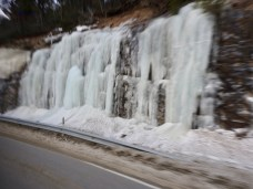 Frozen Waterfall, Arctic Circle, Norway