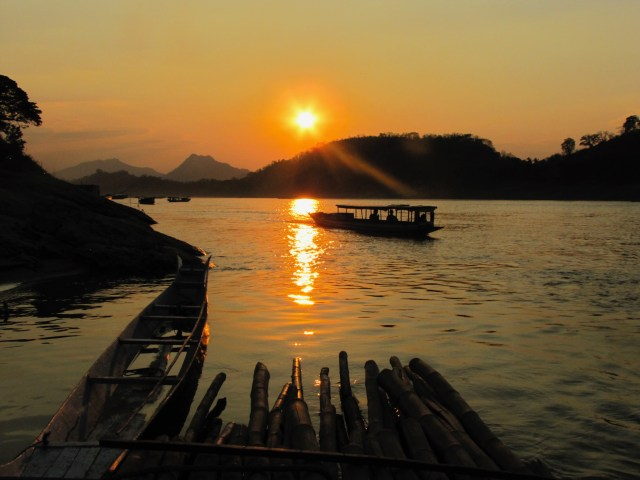 Mekong Sunset, Luang Prabang, Laos. October 2015.