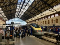 Inside Marseille, St Charles Train Station - the Eurostar has arrived