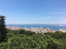View across Marseille France out to the Mediterranean