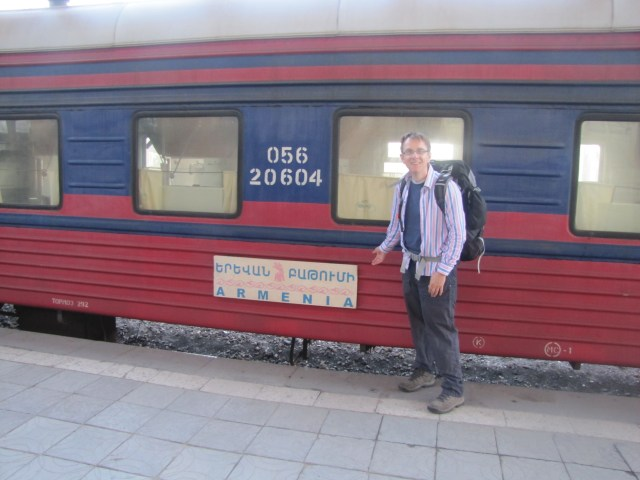 Train Arrival From Georgia, Yerevan, Armenia. September 2014.