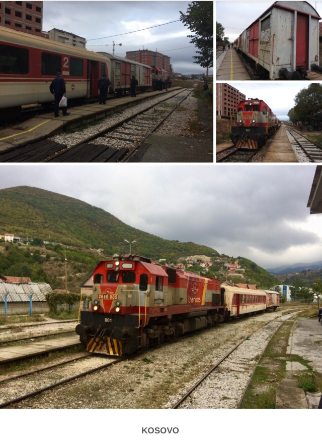 Train From Pristina to Hani E Zelit, Kosovo. September 2017.