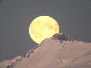 Morning Moon, Tromso, Norway