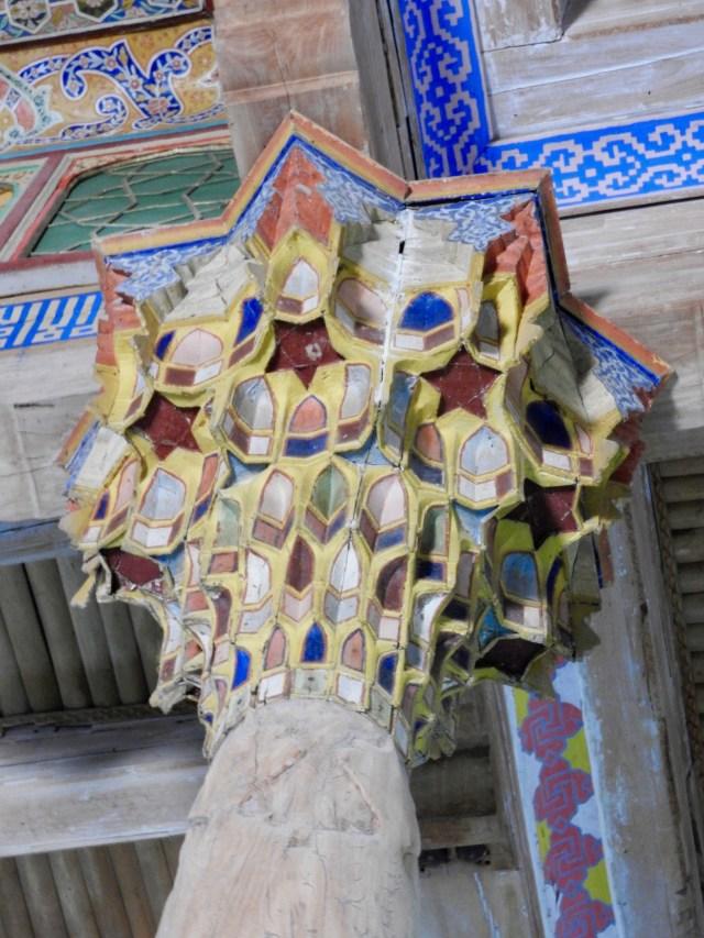Column & Ceiling,Juma Mosque, Bukhara, Uzbekistan