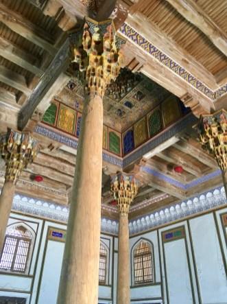 Carved Columns & Ceiling, Juma Mosque, Bukhara, Uzbekistan
