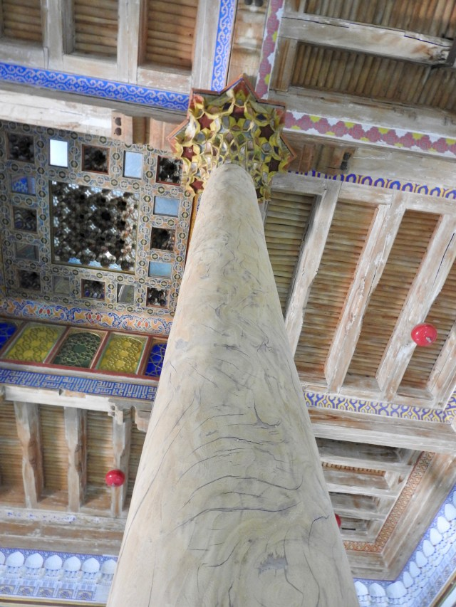 Carved Column & Ceiling, Juma Mosque, Bukhara, Uzbekistan