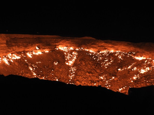 Darvaza Gas Crater, Turkmenistan. September 2018.