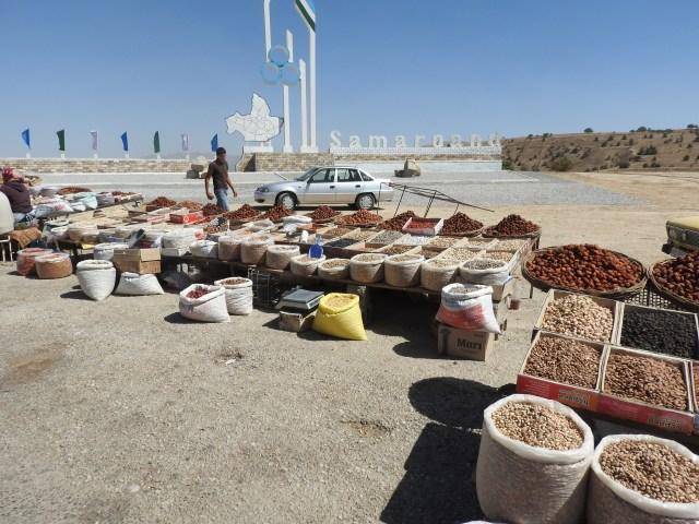 Kashkadarya province roadside vendors, Uzbekistan