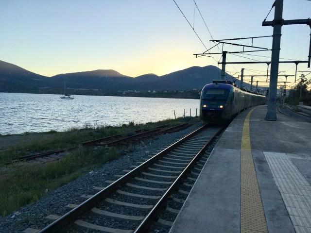 Train Arrival, Halkida, Greece