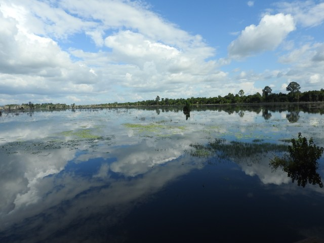 Lake, Siem Reap Province, Cambodia. A beautiful country with a scarred past