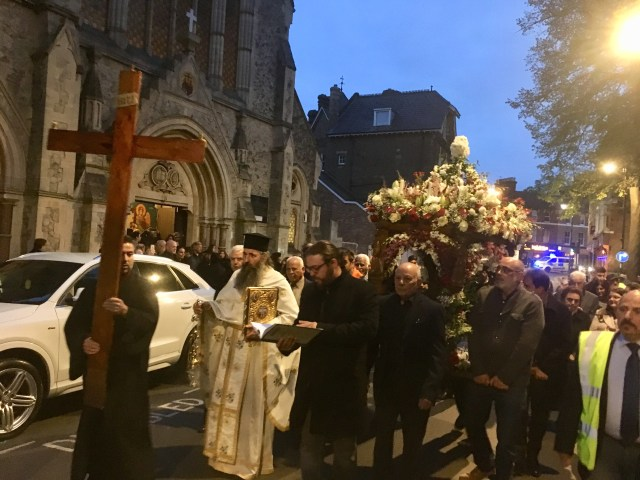 Greek Orthodox Holy Friday Procession, London