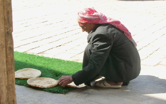 Drying Flatbreads, Damascus, Syria