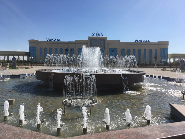 Khiva Train Station, Uzbekistan