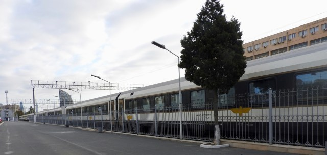 New Train Carriages Situated in Baku