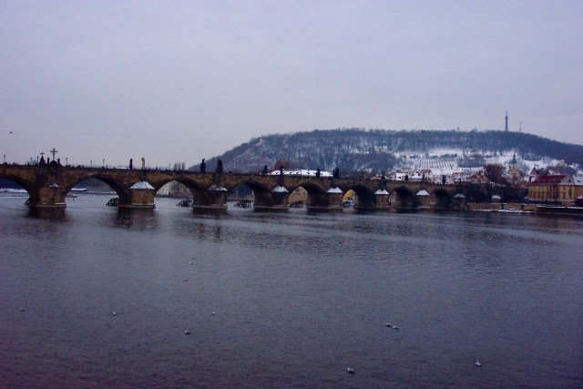 Charles Bridge, Prague, Christmas 2003