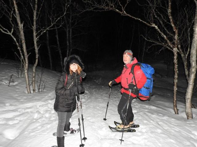 Snowshoeing Mrs Wilbur & Kiki, Narvik, Norway