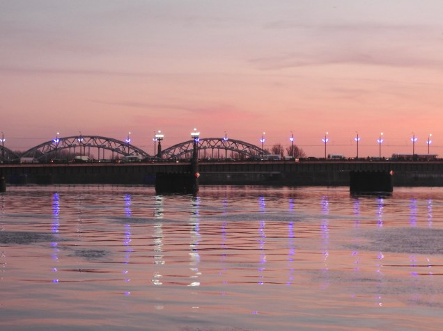 River Daugava Sunset, Riga 1