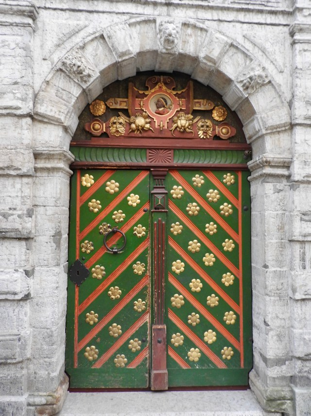 Entrance to the House of the Brotherhood of Blackheads, Tallinn
