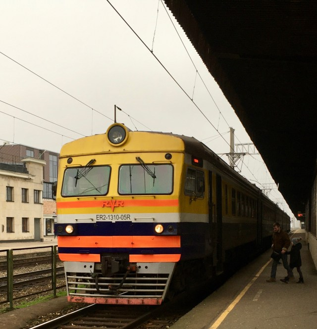 Train at Riga Station, Latvia