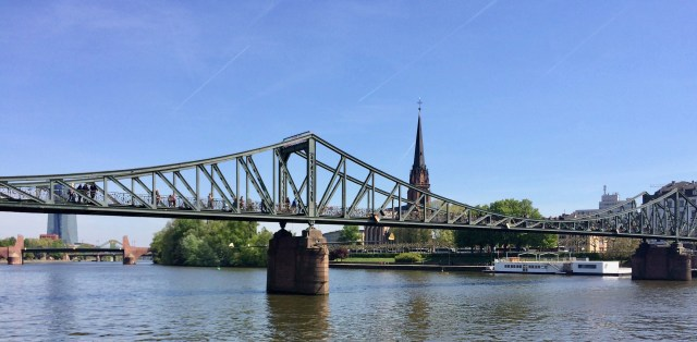 Bridge Over The Main River, Frankfurt am Main, Germany
