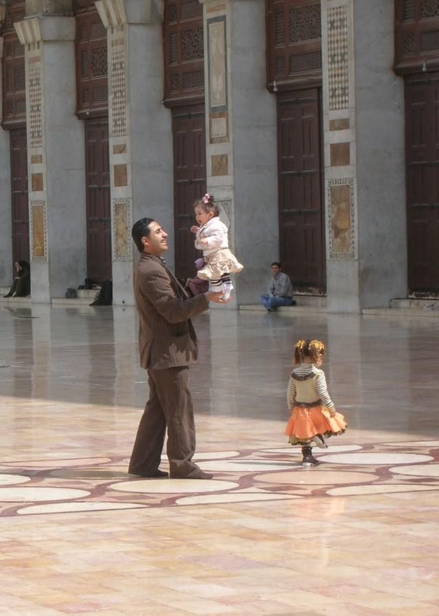 Syrian Father, Umayyad Mosque, Damascus