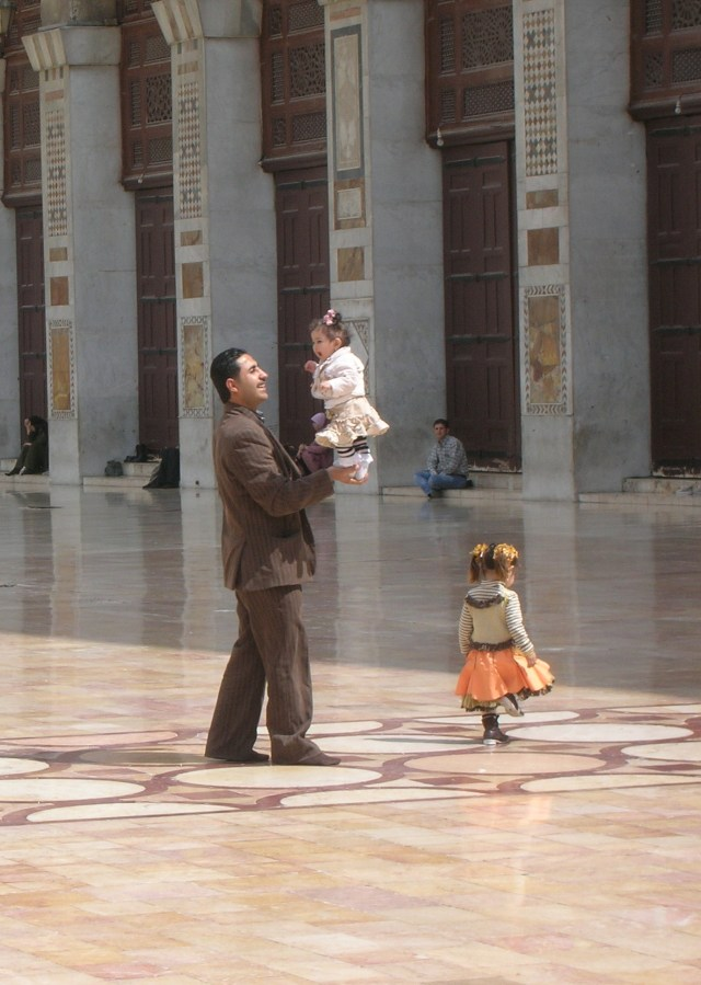Syrian Father, Umayyad Mosque, Damascus