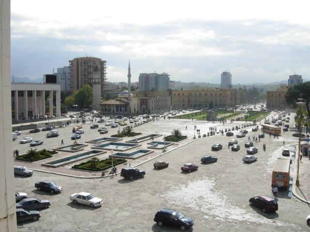 Skanderbeg Square, Tirana, Albania in 2007