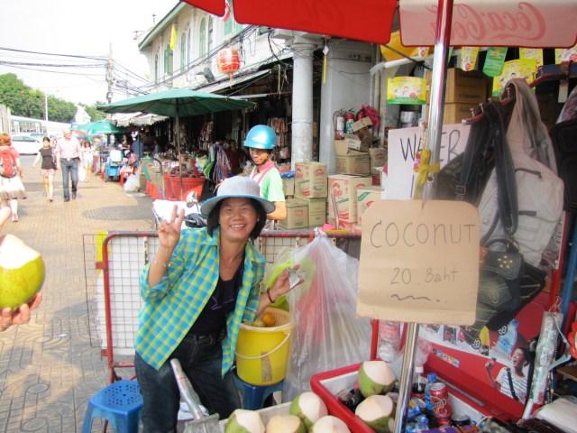 Coconut Saleswoman Bangkok