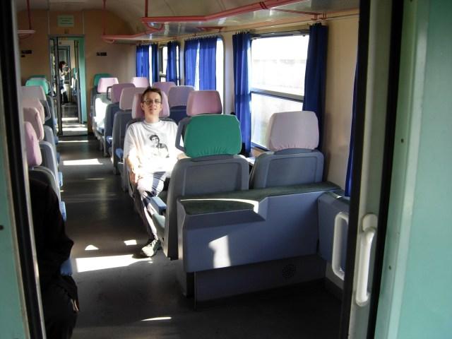 Wilbur on Tirana to Durres Train, Albania