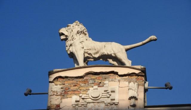 Art Deco Lion, Jugendstil District, Riga, Latvia