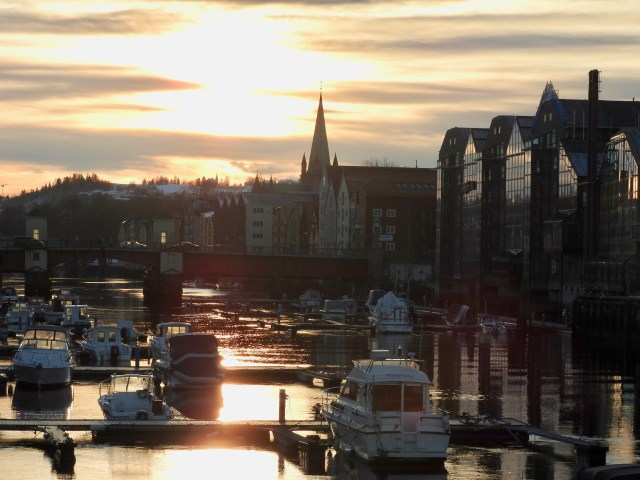 Trondheim, Norway At Sunset