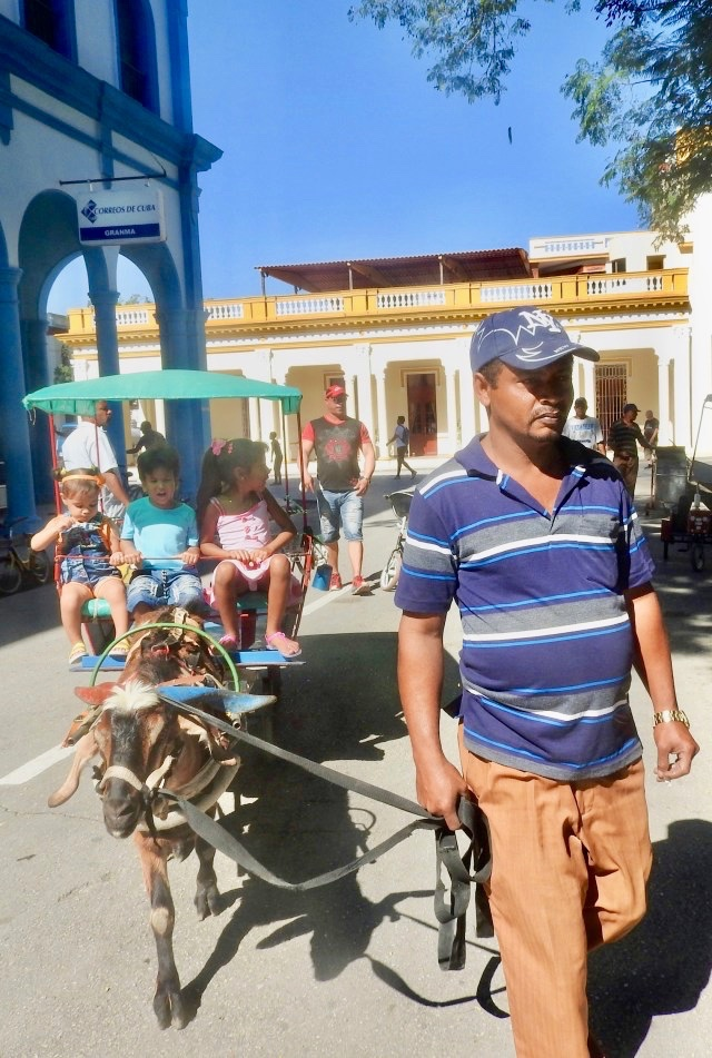 Goat Drawn Carriage, Bayamo, Cuba