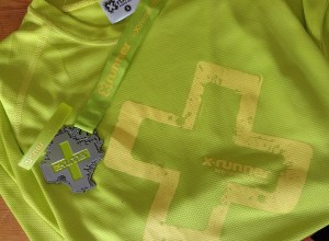 X-Runner T-Shirt, Medal and Wristband
