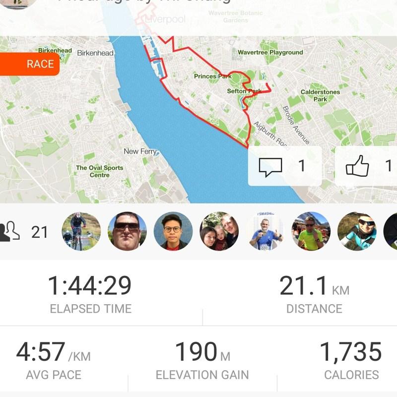 Half Marathon tracking via Strava