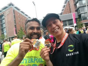 Finisher photo with Vinni