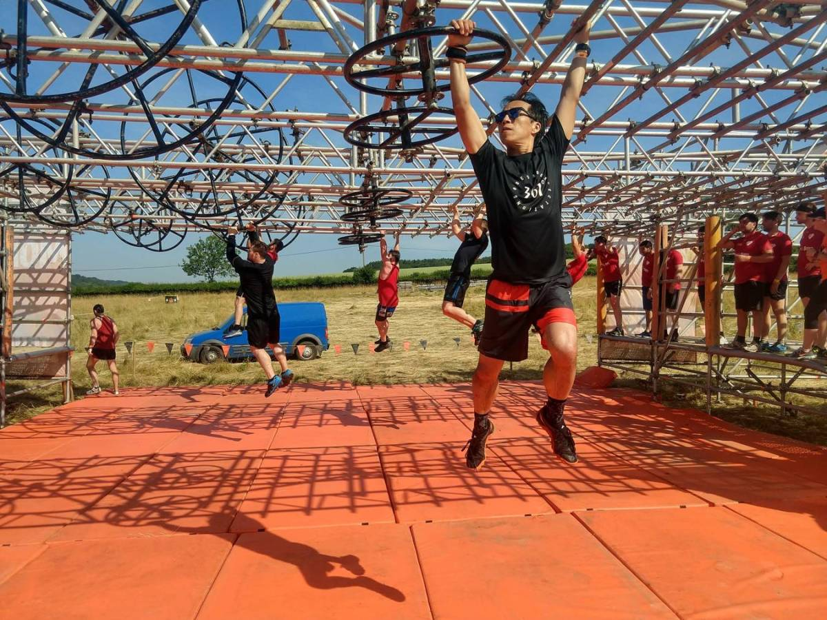 Tough Mudder North London 2018 Wil Chung Pyramid Scheme Funky Monkey